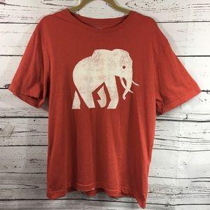 Banana Republic-Graphic elephant t shirt-Men's SzL